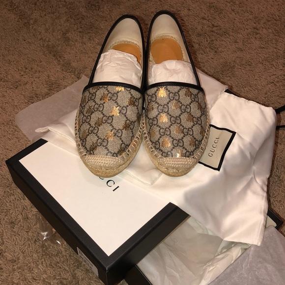 9a738860fe9 Gucci Shoes - Gucci Supreme Bees Espadrilles